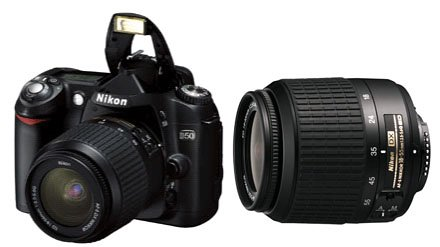 My Nikon D50 Digital SLR Camera, shown with extra lens